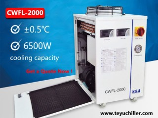 Industrial water chiller for fiber laser