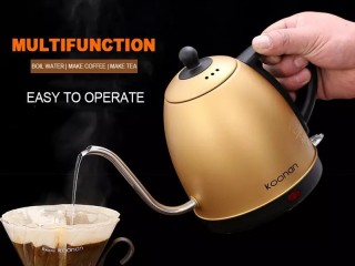 Electric Kettle Long Mouth-(GOLD)