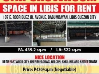 Car Showroom Space in Libis For Rent