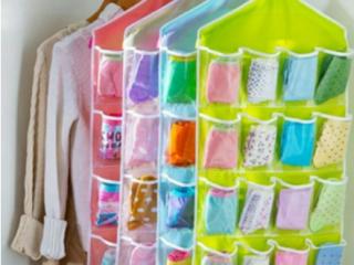 16 grid Hanging Panty Organizer Underwear Storage Bag
