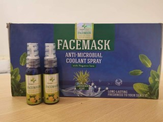 Face Mask AntiMicrobial Coolant Spray
