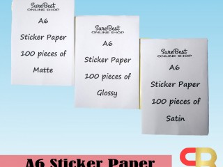 [SUREBEST] A6 Sticker Paper AWB (Air Way Bill) for inkjet and Laser Printers 100 pieces