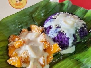 Ube Macapuno mango Sticky rice cake