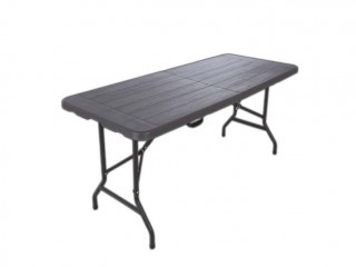 ENDURA Dahlia 6 ft Wood Grain Fold In Half Table  (0 Reviews)